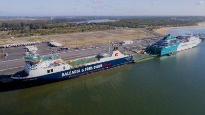 Comienza a operar la nueva ruta entre Huelva y Canarias de Baleària y Fred.Olsen con el buque 'Martín i Soler'