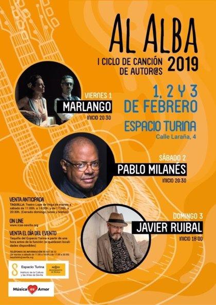 Marlango, Milanés y Ruibal actuarán en Sevilla en 'Al Alba', el primer ciclo de canción de autores