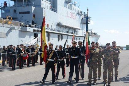 La Base de Rota (Cádiz) acoge la ceremonia del XX aniversario de la creación de la Fuerza Anfibia Hispano-Italiana