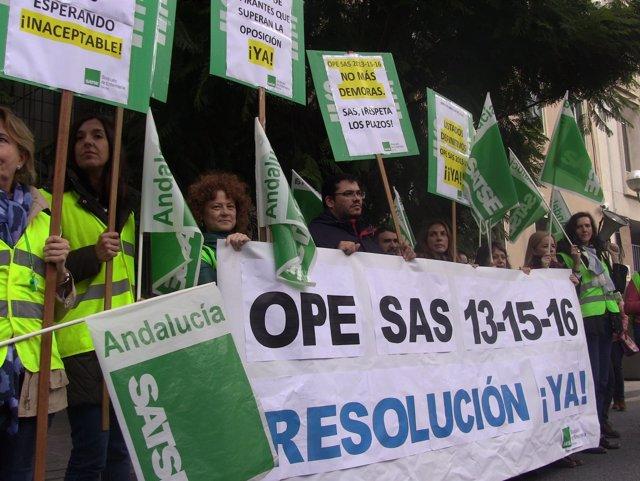 Protestas de delegados de Satse en Sevilla