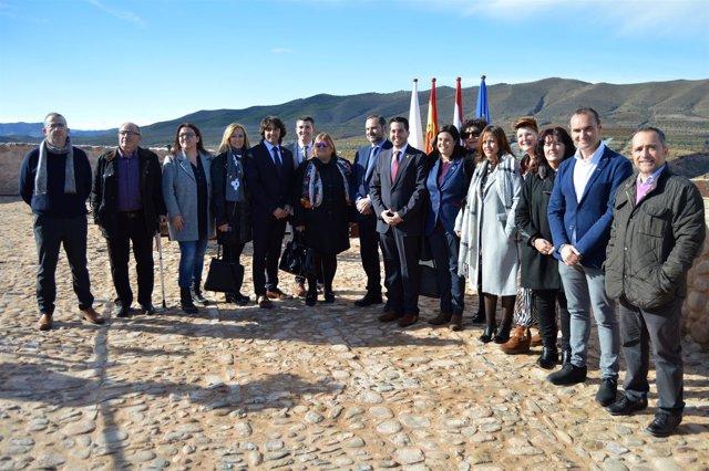 El ministro Ábalos inaugura el castillo de Arnedo rodeado de autoridades