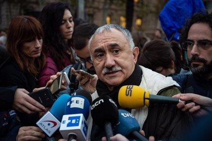 """Álvarez (UGT) alerta de que el Decreto Ley del Gobierno sobre las hipotecas """"no es suficiente"""""""