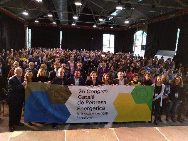 Representantes de entidades y municipios en el II Congreso Catalán de la Pobreza