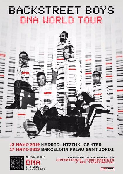 Backstreet Boys actuaran a Madrid i Barcelona al maig amb el seu nou disc 'DNA'