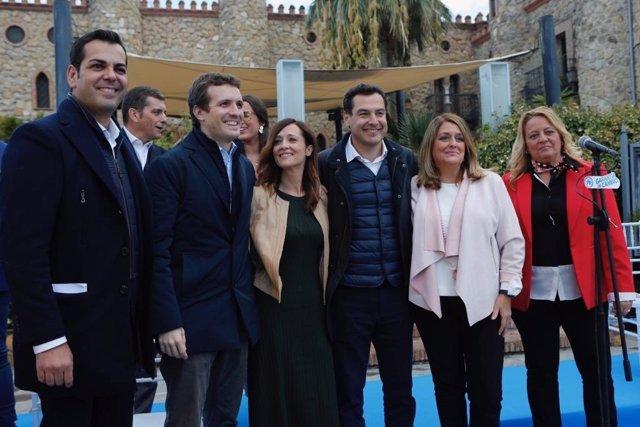 Casado y Moreno, en la presentación de la candidatura del PP de Jaén.