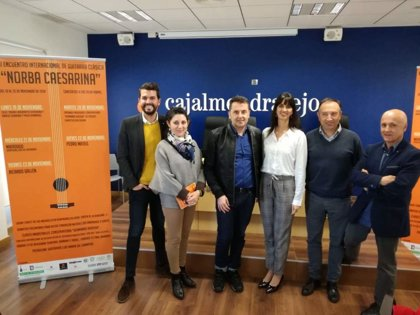 Veinte músicos de diversos países participarán en Cáceres en el XIII Encuentro de Guitarra Clásica 'Norba Caesarina'