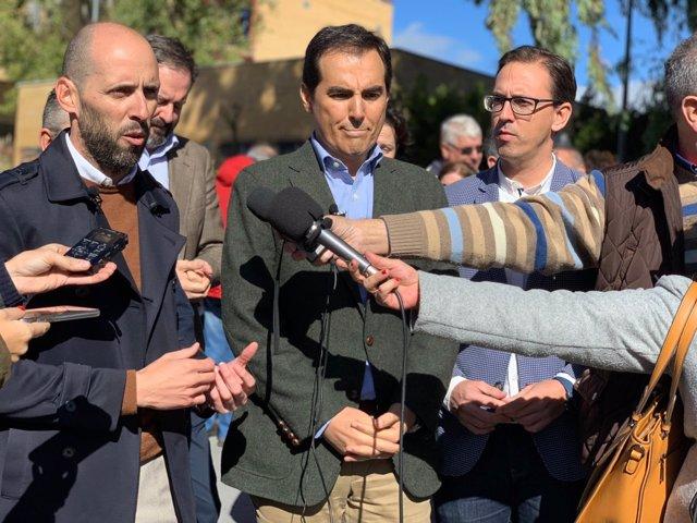 Cargos del PP, con José Antonio Nieto, en Pozoblanco