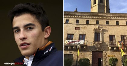 Marc Márquez no saldrá al balcón del Ayuntamiento de Cervera por el cartel de los presos
