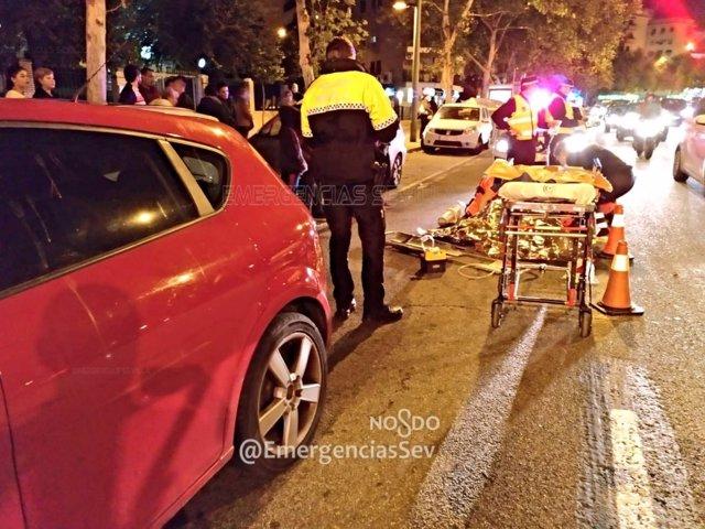 Herida grave tras ser atropellada cuando cruzaba por una zona no habilitada