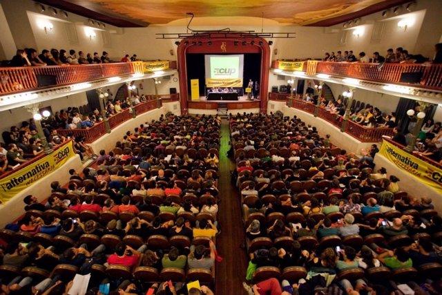 Imagen de archivo de una asamblea nacional de la CUP