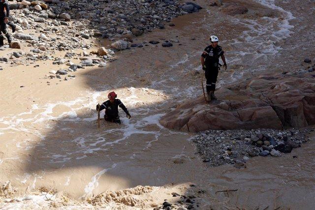 Inundaciones en Jordania