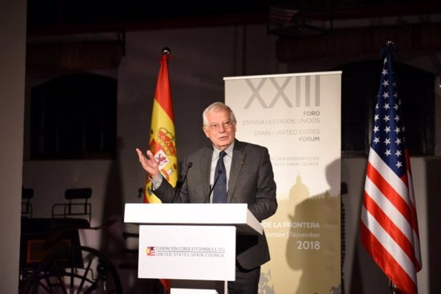 Josep Borrell, en la inauguración del XXIII Foro España–Estados Unidos