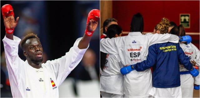 Babacar Seck equipo español femenino kumite Mundial karate