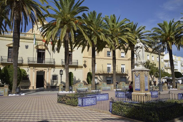 Plaza del municipio de Ayamonte (Huelva).