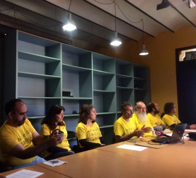 La Plataforma Antiautopistas, en rueda de prensa en Palma
