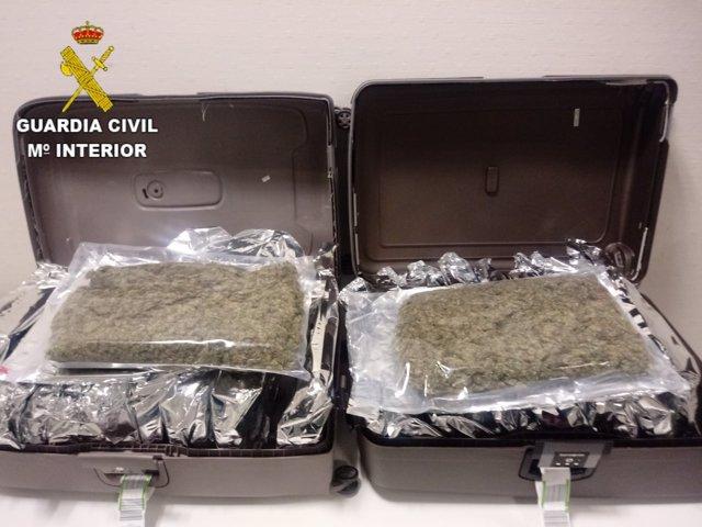 Las maletas iban cargadas de marihuana