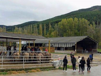 La Finca 'La Garcipollera'  recibe este otoño la visita de alumnos de centros aragoneses y nacionales