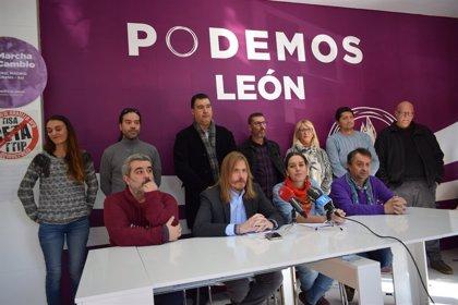"""Podemos pide al pueblo leonés que """"ruja"""" por su futuro ante el """"desprecio"""" de Gobierno y Junta"""