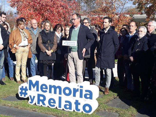 Acto del PP con motivo del 'Día de la Memoria' en Irún