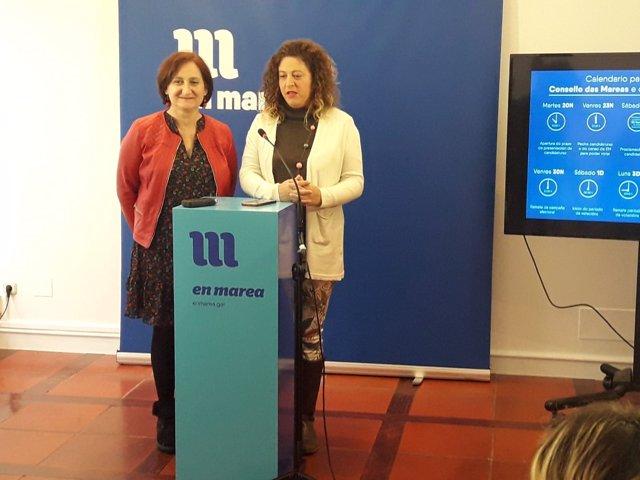 Victoria Esteban y Ana Seijas en rueda de prensa