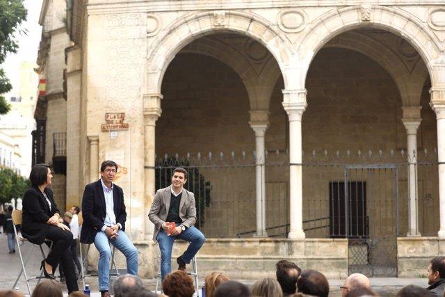 Juan Marín en un acto en Jerez de la Frontera