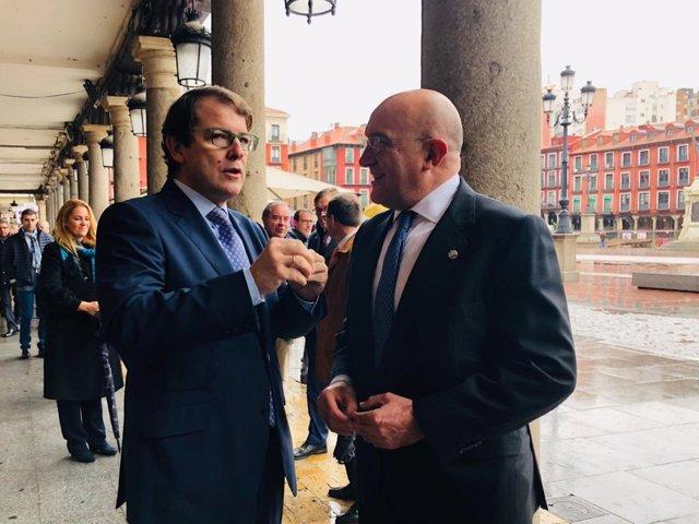 Alfonso Fernández Mañueco y Jesús Julio Carnero en el Día de la Provincia