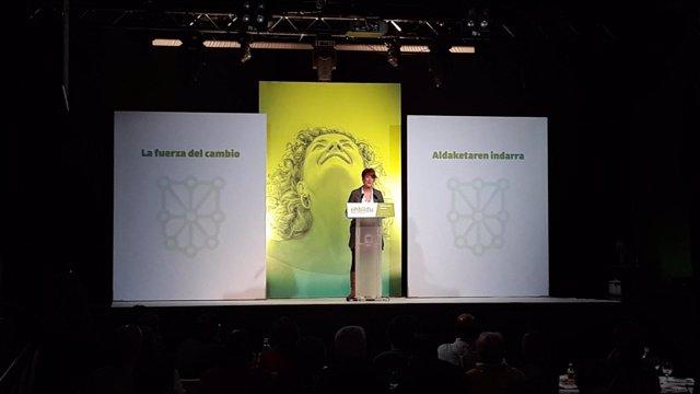 Bakartxo Ruiz interviene en las jornadas 'Nafarroa 2023' de EH Bildu