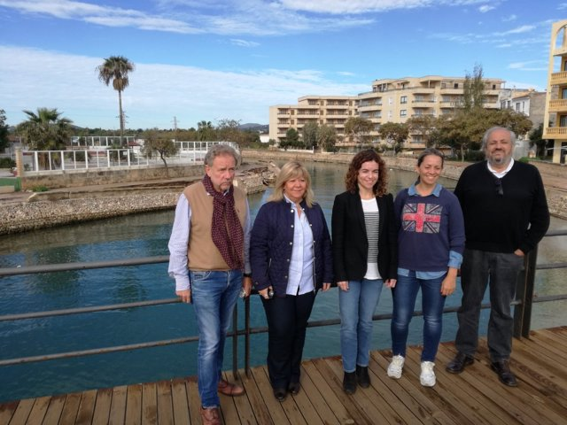La delegada del Gobierno en Baleares, Rosario Sánchez, en s'Illot