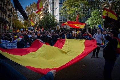1.500 manifestants de Jusapol i 400 independentistes es mobilitzen a Barcelona sense entrar en contacte