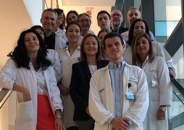 Equipo de la Fe que trabaja con el cáncer de ovario