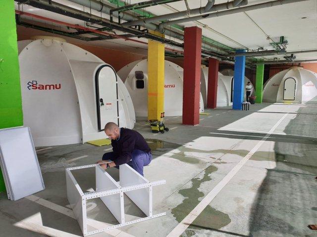 Instalación De Estructuras Prefabricadas En Centro De Menores De Ceuta