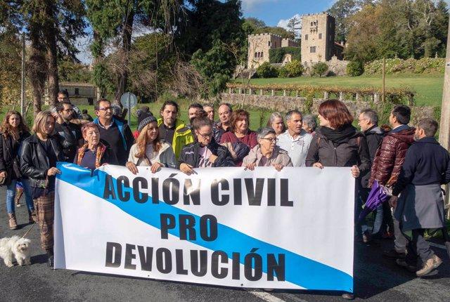 Protesta ante el Pazo de Meirás este sábado