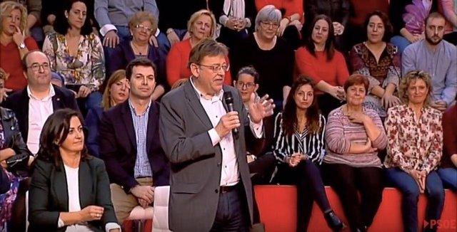 Ximo Puig en el Comité Federal del PSOE