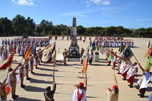 Homenaje en Melilla a los que dieron su vida por España