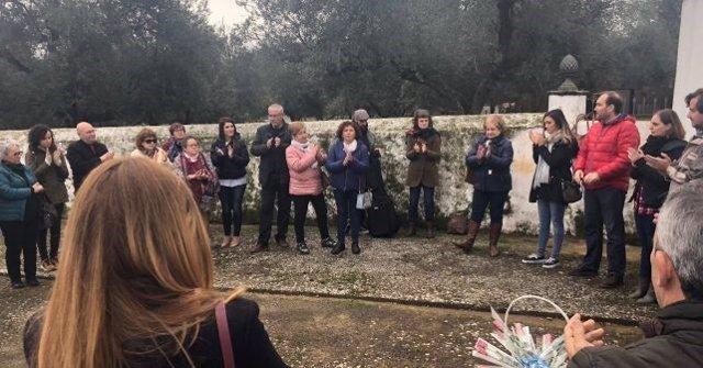 Homenaje a víctimas en el cementerio de Cala (Huelva)