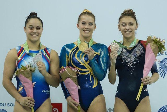 Melania Rodríguez, plata en el Mundial de gimnasia trampolín
