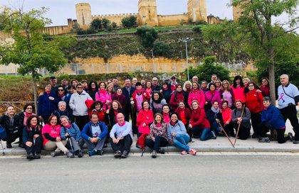 Las 'Chicas Rosas' de la Unidad Oncológica del Hospital Valme de Sevilla visitan las riberas del Guadaíra