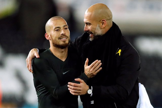Manchester City, Pep Guardiola y David Silva