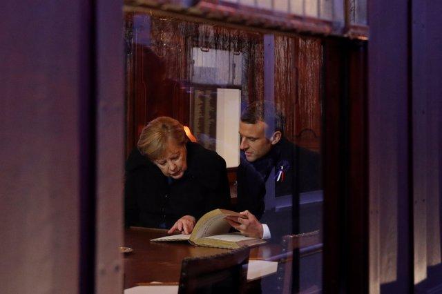 Merkel y Macron en el centenario del armisticio de la Primera Guerra Mundial