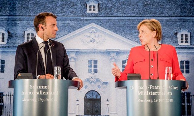 Emmanuel Macron i Angela Merkel (imatge d'arxiu)