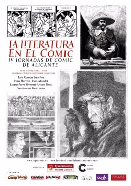 Cartel de las jornadas La literatura en el cómic