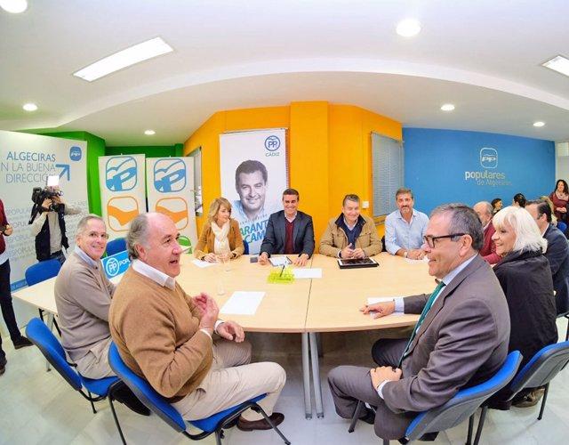 Reunión del PP con la Cámara de Comercio del Campo de Gibraltar