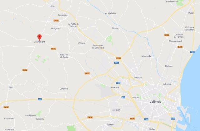 Localización de Vilamarxant (Valencia)