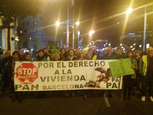 Manifestación por el Derecho a la Vivienda en Barcelona
