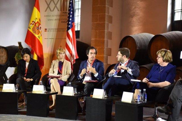 Sesión de trabajo durante el XXIII Foro España – EE.UU.