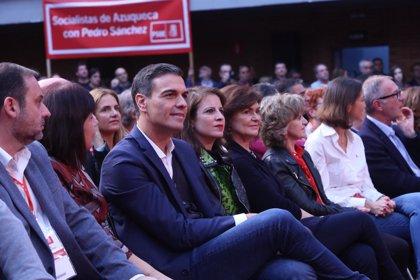 """Sánchez se reivindica como el candidato de la """"esperanza"""" frente a la """"política pendenciera"""" de PP y Ciudadanos"""