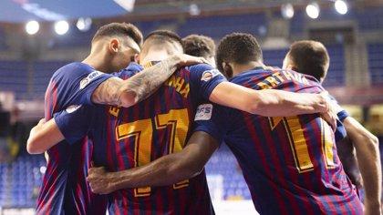 El Barça golea al Palma Futsal para ponerse líder