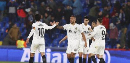 El Valencia confirma su recuperación en Getafe