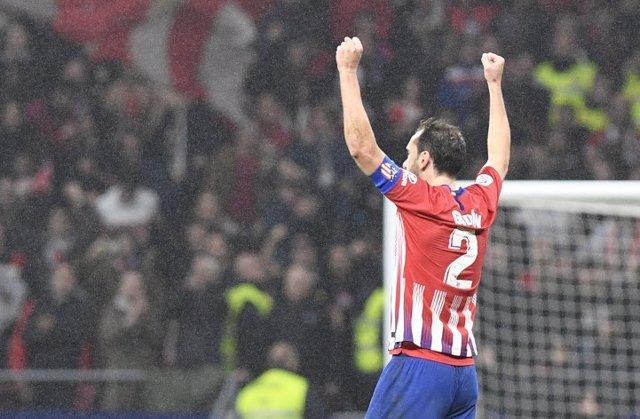 El capitán el Atlético de Madrid, Diego Godín