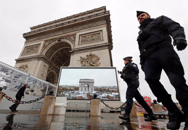 Celebración del Armisticio en París